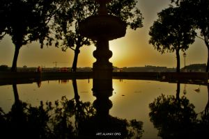 Sunrise on a Drunk Fountain by alahay