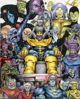 Cosmic Marvel AP official sketch card by GeorgeCalloway