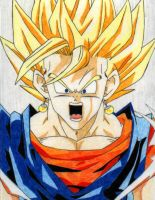 SSJ Vegetto powering up by Stephr0x0rs