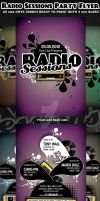 Radio Sessions Party Flyer Template by Hotpindesigns