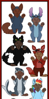 Halloween onsies $5/500 points (customs are now$7) by Chargay