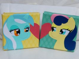 Lyra and Bonbon Canvas by FrogAndCog