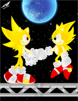 Super Sonic y Super Sonic by WingedKnight7