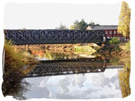 Reflections on a railway bridge by sexywitchnicki