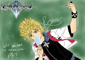 .:KH2 Roxas:. Will You Eat Ice Cream With Me? by fizzynerd
