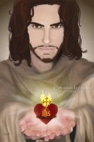 The Sacred Heart of Jesus by RowanLewgalon