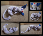 Big Floppy Espeon Plush by racingwolf