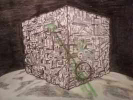 Borg Cube by Sikorax