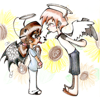 Two Little Angels by Iliana-Tabi-CAt