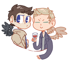 best angel bros by BlueMagnet