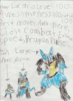 Lucario pictures by Marioking9834