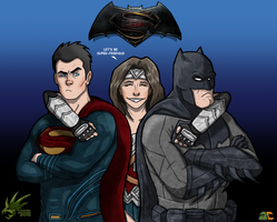 Batman v Superman fanart by TyranneDragon