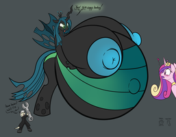 queen chrysalis color by schrodinger1
