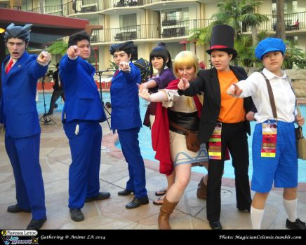 ALA 2014: Prof. Layton VS Ace Attorney Gathering by WannabeMagical