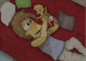 Homer And Lisa - Daddys Girl by ChnProd22
