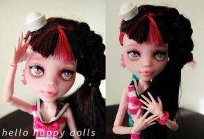 Monster high draculaura repaint 2 by hellohappycrafts