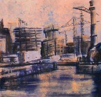 The Docks in Charcoal by claretomo88