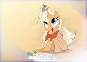 Doodling Filly by sherwoodwhisper