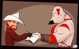 Chuck and Kratos by Captain-Paulo