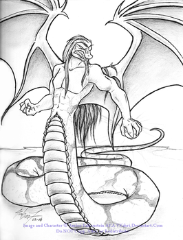 Winged Naga Brought to Life by VKahri