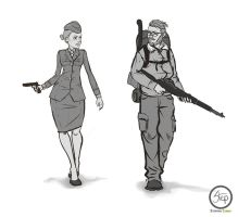 WWII officer and Z Survivor by tranenlarm