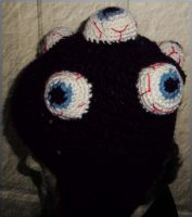 Eyeball Cluster Hat Side View by StaceyQuay