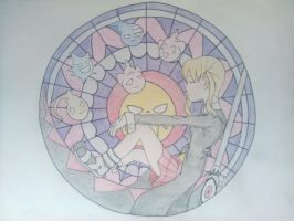 Soul Eater Stained Glass by saxonnani