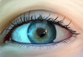 Eye - painted by X3-chan