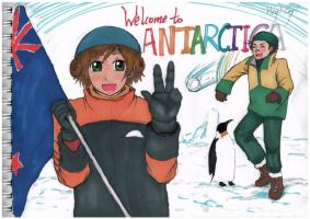 oceania couple at antarctica by Firebird-in-Forest