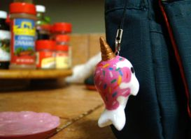 Ice cream Narwhal Keychain by SprinkleChick