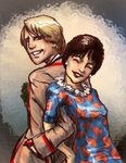 Fifth Doctor and Tegan by infiniteviking