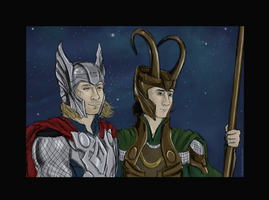 Princes of Asgard by GoreChick