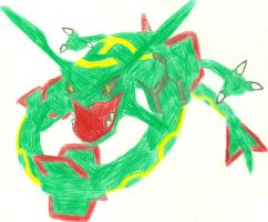 Rayquaza Sketch by CoolMan666