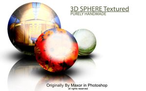 3D Metal Spheres Textured by Maxor-GWD