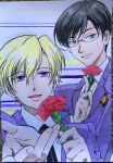 Tamaki and Kyoya by Karina-o-e