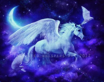 Pegasus in the stars by EnchantedWhispersArt