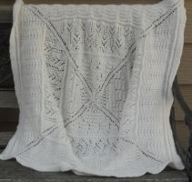 Lace Baby Blanket by Glori305
