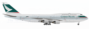 Boeing 747-400 with CX paint by johnchan