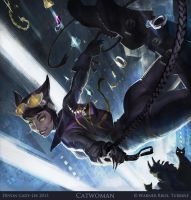 Infinite Crisis - Catwoman Splash by Gorrem
