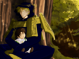 07-Ghost: Frau and Teito. Sweet dream by rinity
