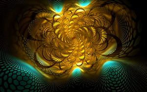 bluegolden hexes swirls by Andrea1981G