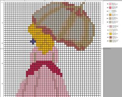 Peach Cross-Stitch Pattern by CraftingGeek