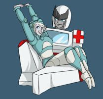 TF: Ratchet and Moonracer by Ty-Chou