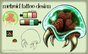 +Metroid Tattoo Design+ by nayruasukei