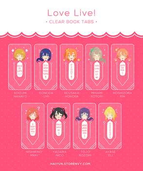 Love Live!: Clear Book Tabs by Haiyun