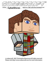 Cubeecraft - The 4th Doctor by CyberDrone