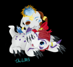 Request: Gomamon's for Kushell by Chilicreeper1337