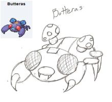 WIP Pokefusion Butteras by OCs-of-RandomMan