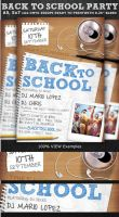 Back to School Party Flyer Template by Hotpindesigns