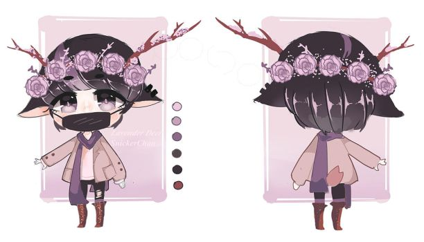 (CLOSED) Lavender Deer Adopt by SnickerChan